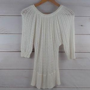 White House Black Market white knit sweater. Sz S