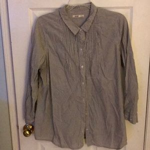 Long Sleeve button down tunic style