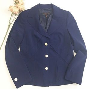 Escada Navy Blazer with Gold Buttons