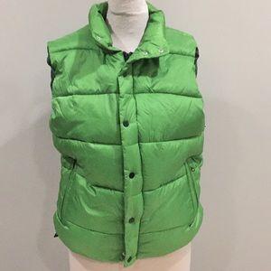 Woman's large puffer vest