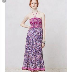 Anthropologie Maeve Daleka day silk dress
