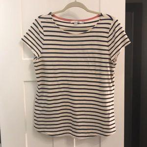Boden navy striped tee shirt