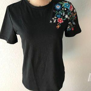 🆕 Zara Embroidered T-shirt