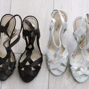 2 pair Dressy BP Platinum Dressy High  Heels