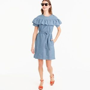 J. Crew Edie Dress in Chambray, size 6, NWT