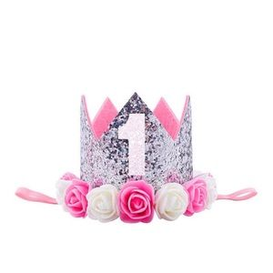 Other - Birthday crown,girl birthday crown,silver crown,