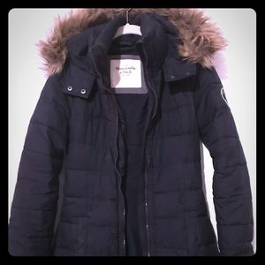 Abercrombie & Fitch parka, dark navy.