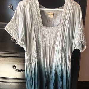 Anthro Holding Horses blue ombre dress
