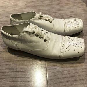 8a9e2f1fdc829f Comme des Garcons Shoes - Comme des Garçons Tricot white leather shoes