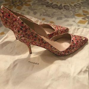Size 8.5 | JCrew Colette d'Orsay glitter mosaic