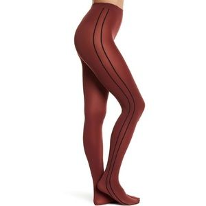 Wolford opaque straight line Tights. Xs.