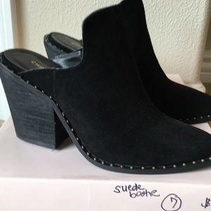Black suede bootie size 7