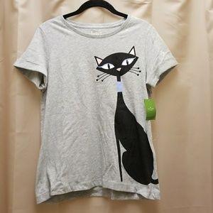 Kate Spade Broome Street Cool Cat Tee Shirt S
