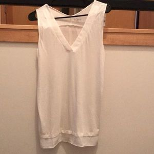 Loft white v neck tank top