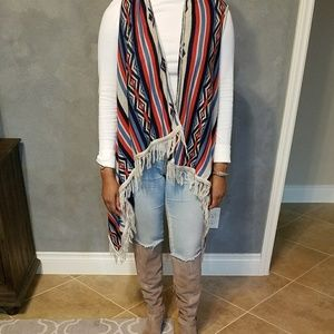 Chic Tribal Print Sweater Vest