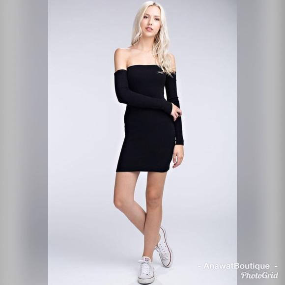 Knit Wasn t Me Off-the-Shoulder Dress 1f54d23c0