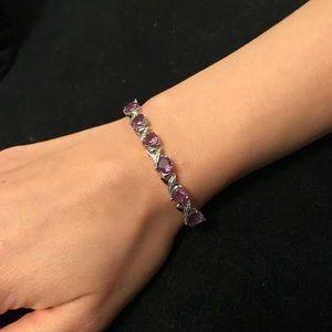 Jewelry - NWT Amethyst Heart Bracelet 💜 (Feb Birthstone)