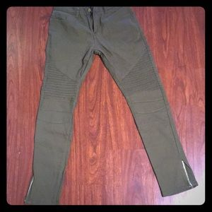 Pants - NEW without tags Green Moto Jeggings