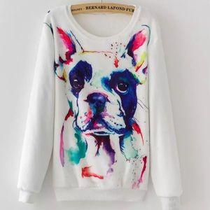 Sweaters - Fleece Pullover French Bulldog Sweatshirt