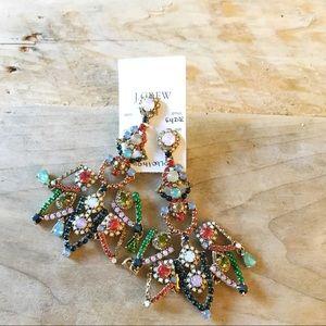 J Crew Jeweled Chandelier Earrings