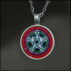 Jewelry - Silver Pentagram Dome Necklace