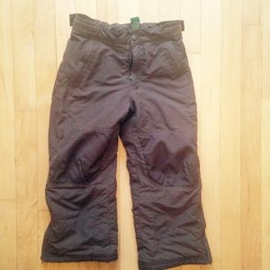 LL Bean kids cold buster snow pants brown size 6
