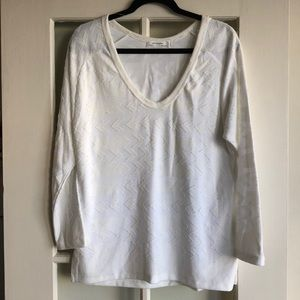Zara W&B Collection Long Sleeve Top with Arrows