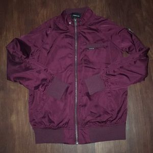 Members Only satin bomber
