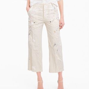 J.crew Limited-edition cropped pant paint splatter