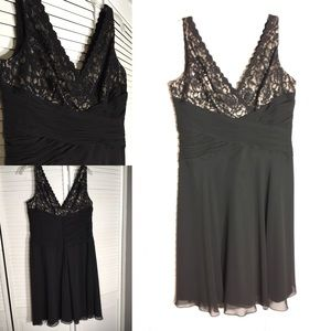 Black Lace and Sheer Party Dress