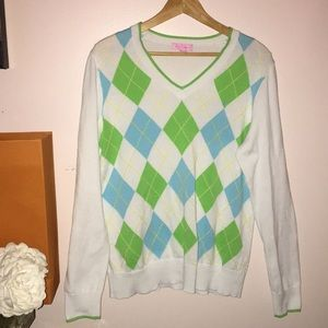 Lilly Pulitzer Pink Label Argyle Sweater