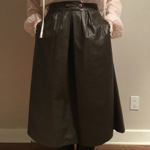 Vintage ann taylor leather skirt