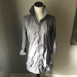 Gray utility coat