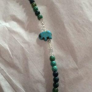 """Jewelry - Handmade beaded necklace. 24"""" elastic"""