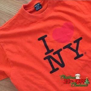 🎅🏼 20% OFF | vtg// orange I♥️NY graphic t-shirt