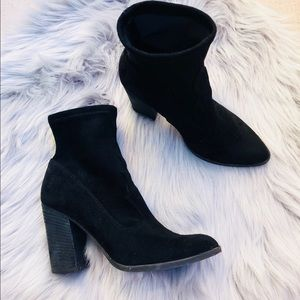 Dolce Vita / Black Suede Sock Boots