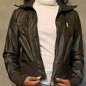 Stylish Dark Gray Moto Jacket