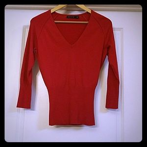 The Limited Red V-Neck Size Medium Sweater