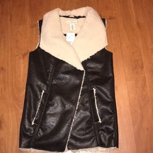 Faux Shearling Vest (NEVER WORN)