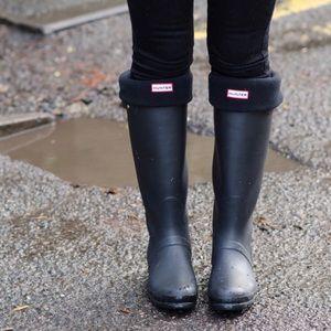 Black Hunter Boot Socks