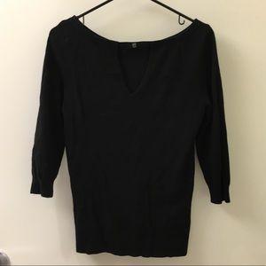 Cute black sweater!