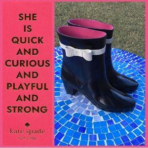 ADORABLE!  kate♠️spade 'Paloma' rain boots 9