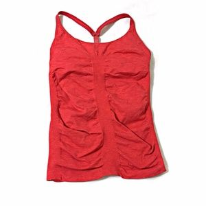 Athleta Up-Tempo Tank Top SZ S Fire Red Heather