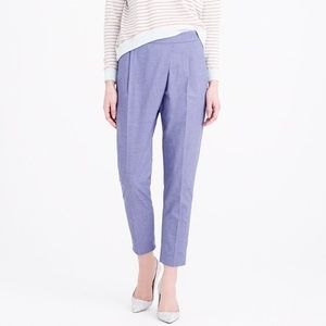 [J. Crew] Cross Over Pant in Chambray