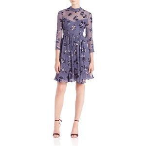 rebecca taylor • alyssum floral illusion dress • 0