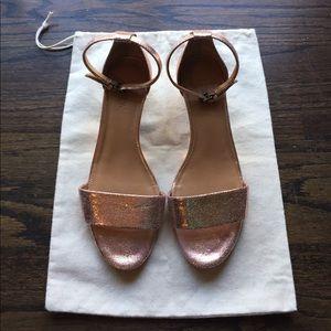 J. Crew Factory Metallic Demi-wedge Sandals