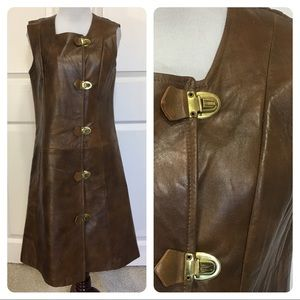 """Vintage """"The Phyllis Look""""  leather shift"""