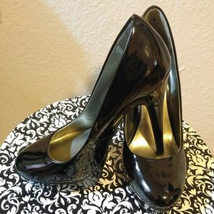 Black Patent-Leather Platform