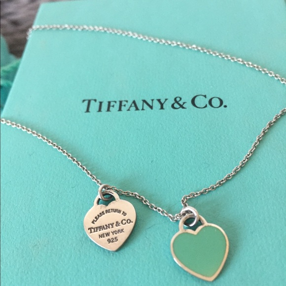 2db9d7322 Tiffany & Co Mini Double Heart Tag Pendant. M_5a2dbf7ac6c7958d9800b8f6.  Other Jewelry you may like. RETURN TO TIFFANY Blue Enamel ...