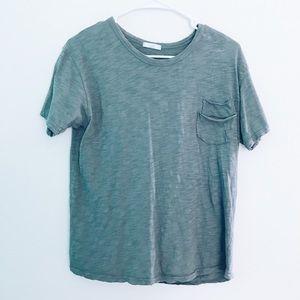 Tops - Gray/Teal T-shirt